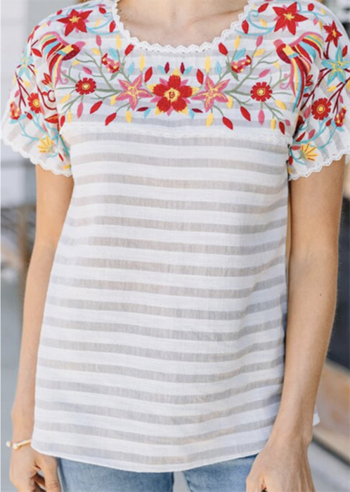 Picture of Shayla Floral Neck Top