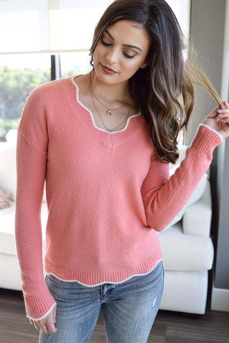 Picture of RaeLyn Scallop Hem Sweater