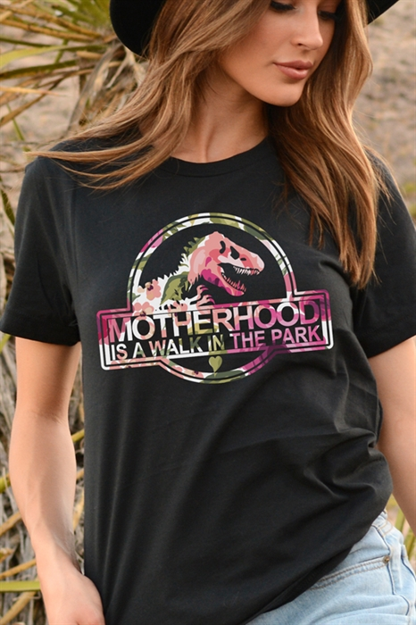 Picture of Motherhood Is A Walk In The Park Graphic Tee