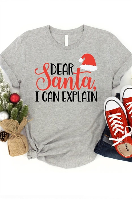 Picture of Dear Santa (Red/Black Lettering) Graphic Tee (Youth & Adult)