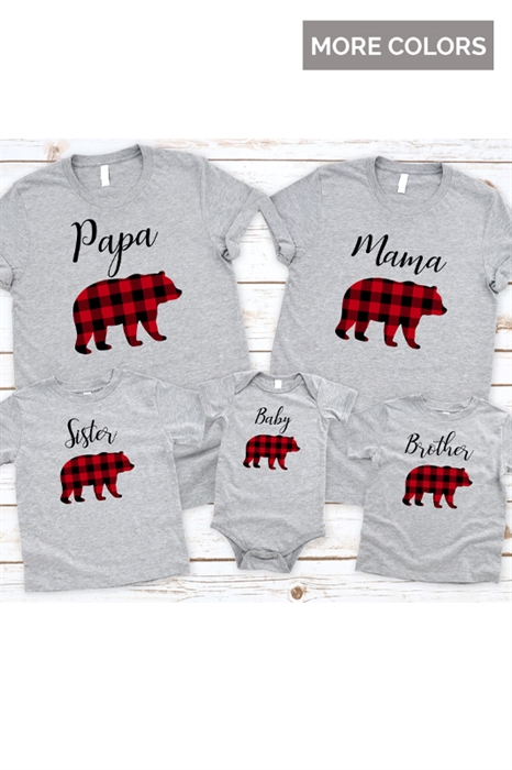 Picture of Bear Family Graphic Tees