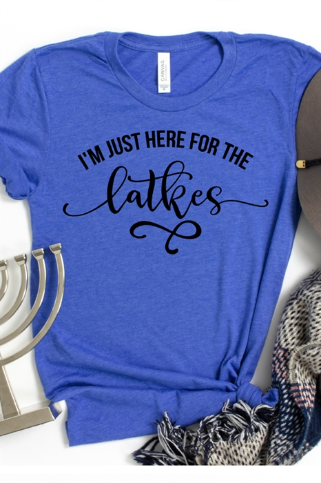 Picture of Here For The Latkes Graphic Tee