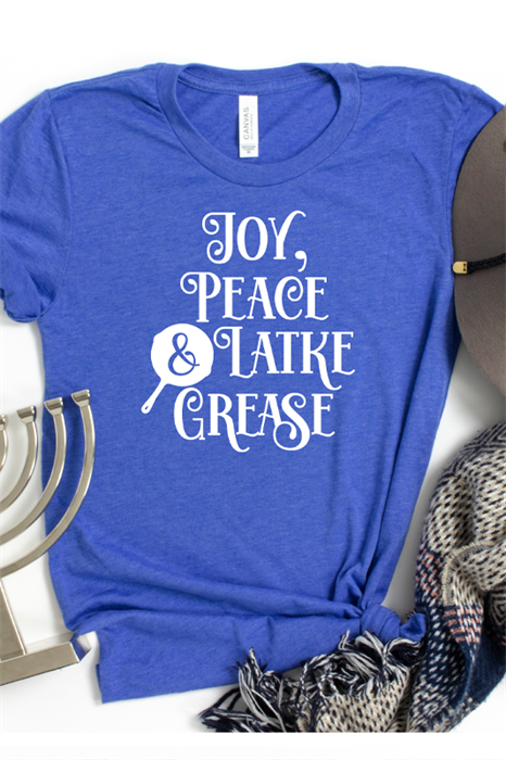 Picture of Joy, Peace and Latke Grease Graphic Tee
