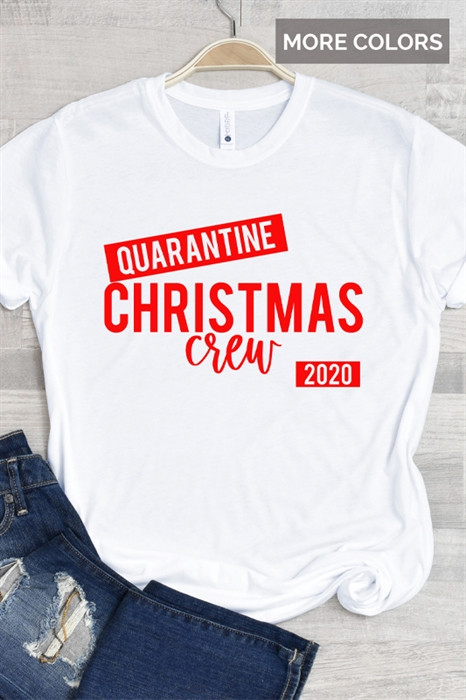Picture of Quarantine Christmas Crew Graphic Tee (Youth & Adult)