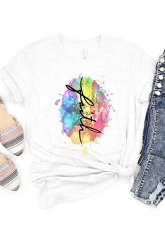 Picture of Faith Colorsplash Graphic Tee by FBT